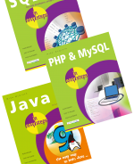 SQL in easy steps, PHP & MySQL in easy steps, and Java in easy steps – SPECIAL OFFER