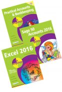 Practical Accounts & Bookkeeping in easy steps, Sage 50 Accounts 2016 in easy steps, and Excel 2016 in easy steps