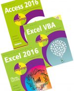 Access 2016 in easy steps, Excel 2016 in easy steps, and Excel VBA in easy steps, 2nd Ed – SPECIAL OFFER