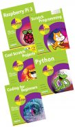 Raspberry Pi 3 in easy steps, Python in easy steps, Scratch Programming in easy steps, Cool Scratch Projects in easy steps, and Coding for Beginners in easy steps – SPECIAL OFFER