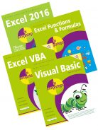 Excel 2016 in easy steps + Excel Functions & Formulas in easy steps + Excel VBA in easy steps + Visual Basic in easy steps – SPECIAL OFFER