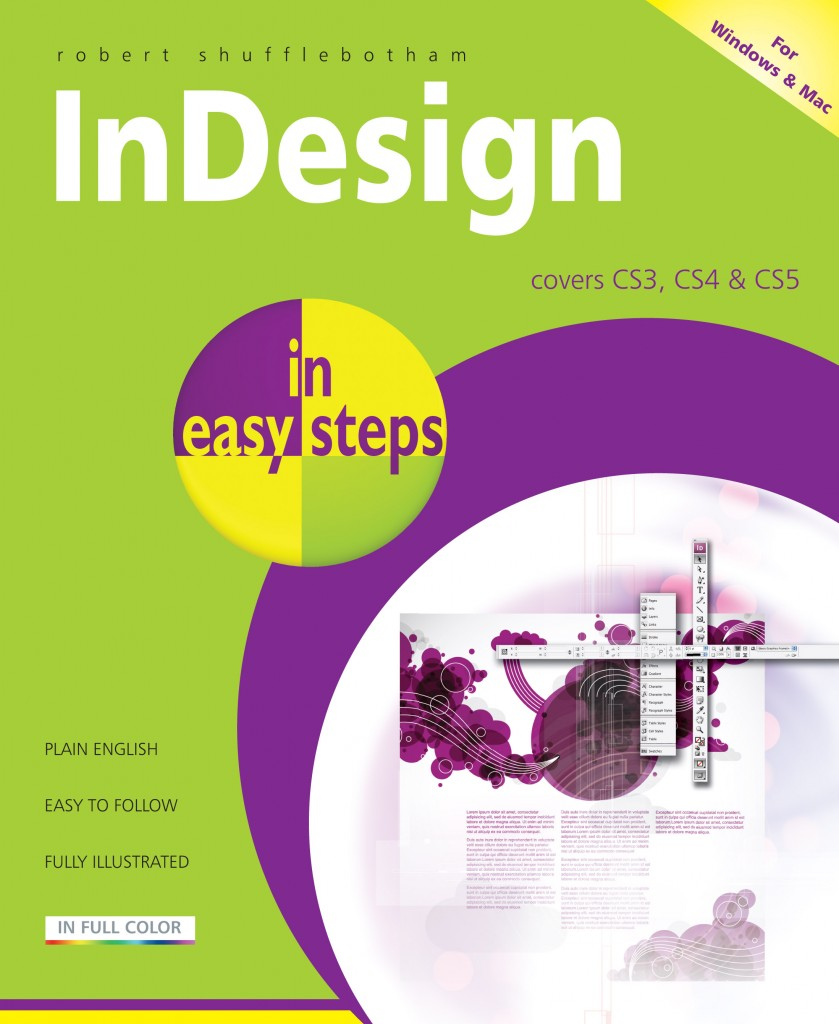 Simple Book Cover Page : In easy steps indesign covers cs