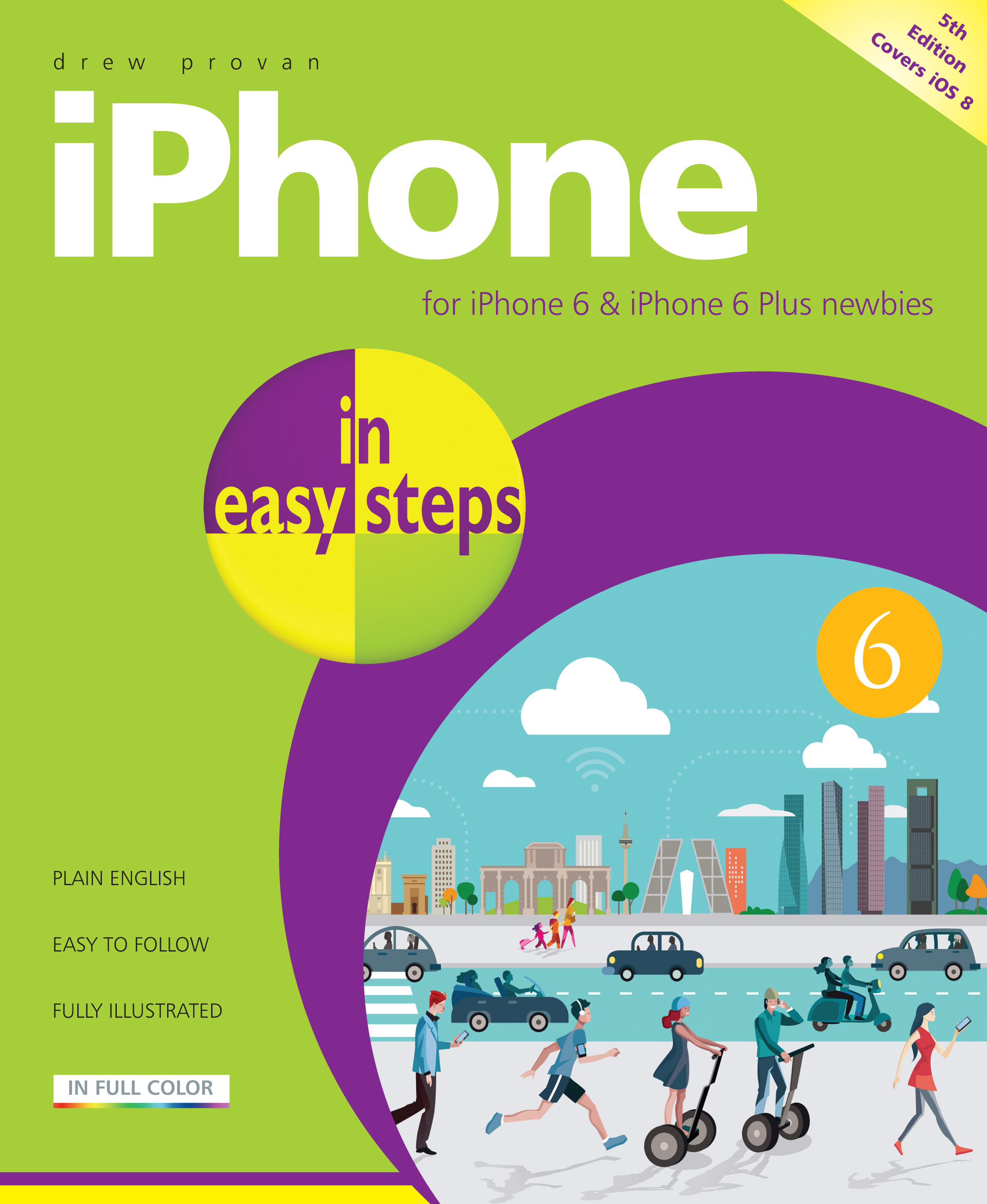 9781840786392 iPhone in easy steps 5th edition iOS 8