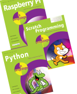 Raspberry Pi in easy steps, Scratch Programming in easy steps and Python in easy steps – SPECIAL OFFER