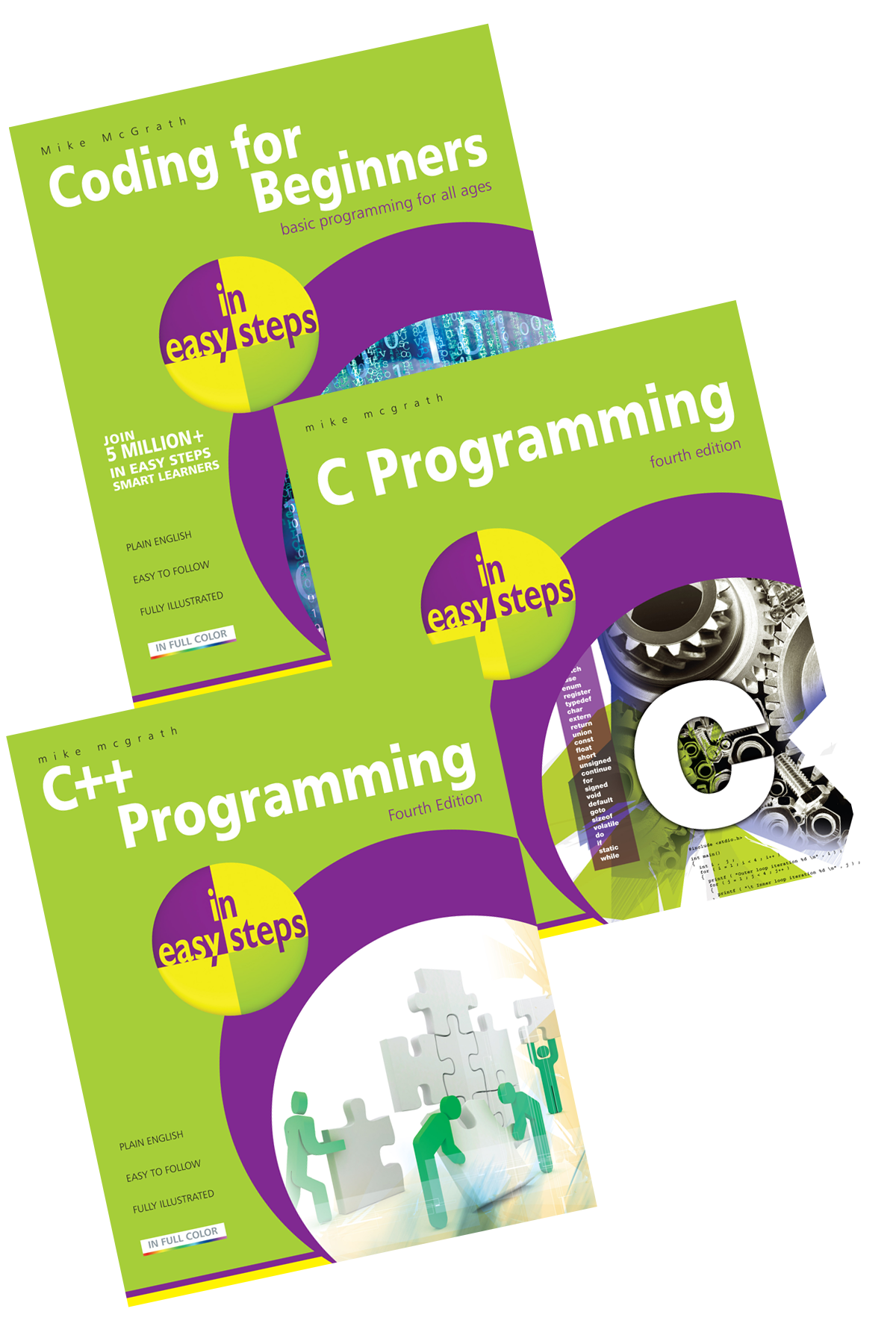 Coding for Beginners in easy steps, C Programming in easy steps, C++ Programming in easy steps