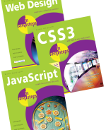 Web Design in easy steps, CSS3 in easy steps and JavaScript in easy steps – SPECIAL OFFER