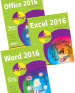 Office 2016 in easy steps, Excel 2016 in easy steps and Word 2016 in easy steps – SPECIAL OFFER