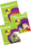 Raspberry Pi 3 in easy steps, Scratch Programming in easy steps and Python in easy steps – SPECIAL OFFER