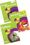 Scratch Programming in easy steps, Cool Scratch Projects in easy steps, and Python in easy steps – SPECIAL OFFER